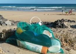 Vielseitiger Fregie am Strand - der wiederverwendbare Obst- und Gemüsebeutel