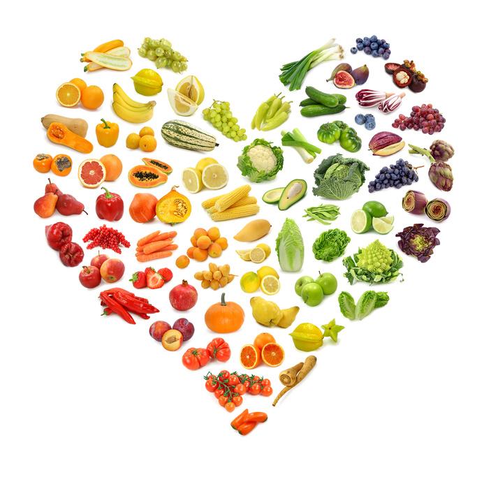 Fregie Obst und Gemüse Regenbogen Herz