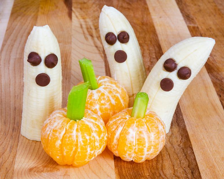 Fregie - der Obstbeutel - frische Bananen und Orangen