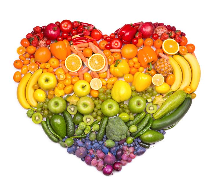 Fregie Obst und Gemüse Herz aus Obst und Gemüse