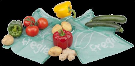 Wiederverwendbarer Fregie mit verschiedenem frischem Gemüse