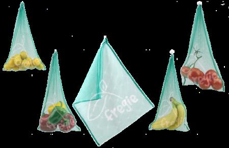 Fregie 5er Pack - der wiederverwendbare Obst- und Gemüsebeutel